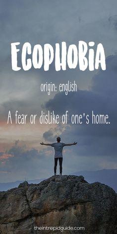 Travel Words Ecophobia