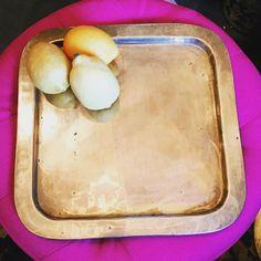 "Vintage square brass serving tray. Measures 13""x13"". $18.00 shipped.  #whatadealwednesday #shopthealist #allaboutthatbrass #brassisback #brasstray #vintagegold"