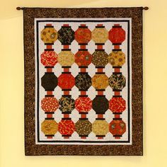 Lanterns quilt kit made with Quilt Gate's 1,000 Tsuru collection ... : chinese quilt patterns - Adamdwight.com
