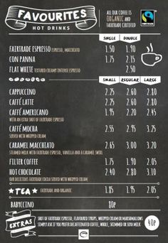 Esquires-Coffee-Favourites-Menu