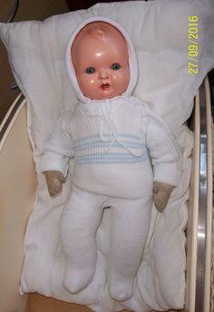 Alte Schildkröt Puppe, 45 cm, Stoffkörper Celluloid Kopf, ca. 1930er Jahre   eBay