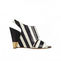 Striped Ayers Wedge Sandals