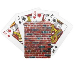 #trendy - #Bricks - Cool Fun Unique Playing Cards