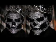 Diamond Skull King Halloween Makeup Tutorial - YouTube