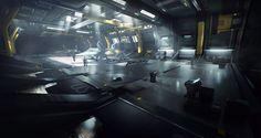 ArtStation - IDRIS hangar , Daniel Joustra