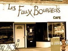 Les Faux Bourgeois - East Van haunt. Love those steak frites! C'est cute!