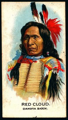 Cigarette Card - Indian Chiefs, Red Cloud by cigcardpix, via Flickr