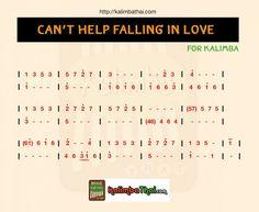 Can't help falling in love - kalimba สอนเล่น พร้อมโน้ตประกอบ - Kalimba Thai Keyboard Sheet Music, Easy Piano Sheet Music, Piano Music Notes, Music Sheets, Kalimba, Easy Piano Songs, Song Notes, Ukulele Chords Songs, Music Tabs
