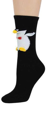 Happy Penguin 3-D Socks