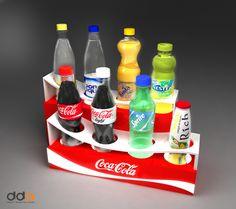 Coca-Cola multiple-brand display on Behance