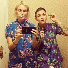 I mean, they wear matching outfits, for goodness' sake.   Ruby Rose And Phoebe Dahl Are The Ultimate Power Couple