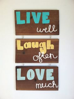 Live Laugh Love Wood Sign For Wall Decoration On Etsy 2700