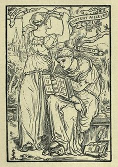 Bookplate of Oscar Browning by Simeon Solomon