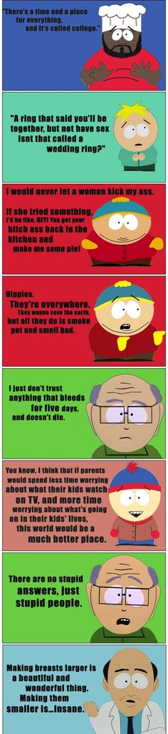 South Park's Words Of Wisdom