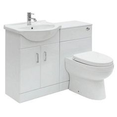 Sienna white combination unit with Energy back to wall toilet 1140mm