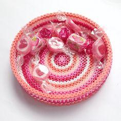 Hama perler candy basket by coriander_dk