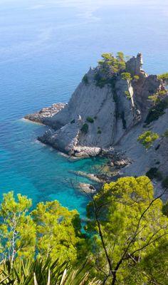 Punta de s'Aguila zwischen Banyalbufar und Port des Canonge  - by Mar y Roc Mallorca Wandern. www.maryroc.de