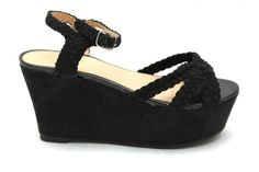 MOSS Festival Braid Wedge Sandals BLACK £11.99 www.mr-shoes.co.uk