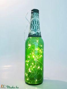 FTC dekorációs világítós üveg, asztali dísz, lámpa futball rajongóknak  (Biborvarazs) - Meska.hu Ac Milan, Manchester United, Real Madrid, Liverpool, Chelsea, Bottle, Diy, Home Decor, Man United