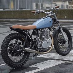 Blue tank   Anchor & Bolts #custom #motorcycle #motorbike