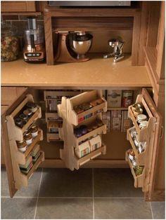 Kitchen Storage Solutions, Diy Kitchen Storage, Kitchen Redo, Kitchen Organization, New Kitchen, Organization Ideas, Kitchen Cabinets, Kitchen Organizers, Kitchen Ideas