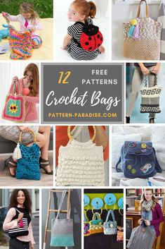 Crochet Finds - Crochet Bags! | Pattern Paradise - Make fun crocheted and knit bags with FREE patterns from Red Heart Yarns!