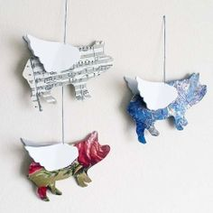 A very easy tutorial on how to make a flying paper pig mobile!