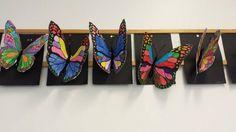 perhoset-idea use model mag. body glue over folded paper Summer Art Projects, School Art Projects, Kindergarten Art, Preschool Art, 2nd Grade Art, Jr Art, Ecole Art, Collaborative Art, Middle School Art