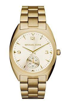 0484b508c8 Amazon.com  Michael Kors Callie Champagne Dial Gold-tone Unisex Watch  MK3344  Michael Kors  Watches