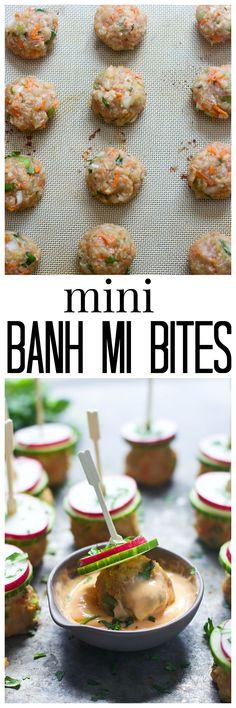 Banh Mi Meatball Bites