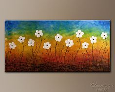 California Morning Poppies-Abstracte Art|Modern Original Canvas Paintings|Flowers