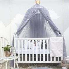 Baby Bed Canopy Curtain Around Dome Mosquito Net Crib Netting Hanging Tent for Children Baby Room Decoration Photography Props Baby Bed Canopy, Princess Canopy Bed, Canopy Curtains, Bed Tent, Princess Room, Tulle Canopy, Tent Canopy, Kids Canopy, Baby Princess