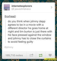 Depp and Burton Relationship