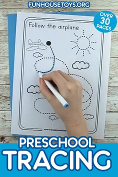 Fun Preschool Tracing Printables with over 30 Pages We are excited to kick off this school year with some fun and engaging tracing printable. Perfect for beginners that are just learning to hold a pencil. This set includes 30 Pages. Fine Motor Activities For Kids, Preschool Learning Activities, Free Preschool, Preschool Curriculum, Preschool Lessons, Preschool Phonics, Homeschool, Printable Preschool Worksheets, Kindergarten Worksheets