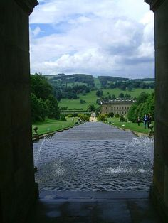Chatsworth Cascade, Chatsworth House, Derbyshire, UK Ancestral home of the Dukes of Devonshire parts of the house date from the 14th century