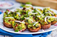 Roasted Potato Cups with Loaded Guacamole (Vegan & Gluten Free)