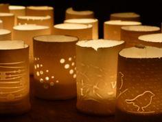 Workshop theelichtjes van papierporselein op .....