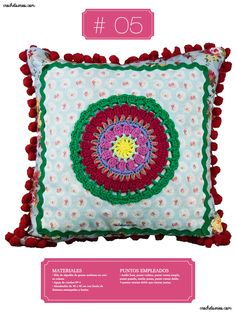 Crochet Almohadones #05 Tapestry, Decor, Pillow Design, Cases, Colors, Hanging Tapestry, Tapestries, Decoration, Decorating