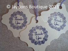 Thank you tags, thank you to all our customers and new followers x