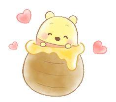 Sem título Winnie The Pooh Gif, Winnie The Pooh Drawing, Winnie The Pooh Pictures, Winnie The Pooh Friends, Cute Disney Drawings, Cute Kawaii Drawings, Cute Disney Wallpaper, Cute Cartoon Wallpapers, Disney Images