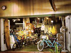 bike repair shop by Lukinosity, via Flickr