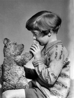 The real Winnie the Pooh and Christopher Robin, ca. 1927   |    61 Must-See Shocking Historical Photos
