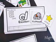 imagier maternelle Grande Section, Teaching Kindergarten, New Work, Montessori, Elephant, Printables, Harry Potter, French, Word Of The Day