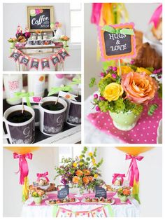 Coffee with Mom Mother's Day Party via Kara's Party Ideas | KarasPartyIdeas.com (2)