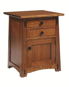 Amish Goshen Shaker End Table This lovely little wood end table is a star! Tuck away items to store in the handy drawer or cabinet. Built in choice of wood, stain and hardware in Amish country. #endtable #accenttable