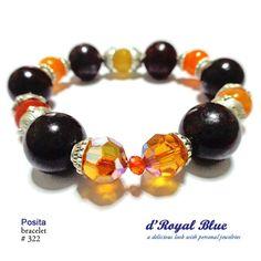 Batu Jasper 14mm, dyed stones, swarovski, kristal cina (kecil).  #bracelet #medan #jakarta #brown #cokelat #oranye #orange #perhiasan #jewelry #forsell #jual #jualan #jualbeli #jualansis #jualankaka #woman #wanita #wanitakarir #ibuibu #cewek #accessories #aksesoris #boho #handmadeaccessories #fashion #fashionista #handmade #handmadebracelet #statementbracelet