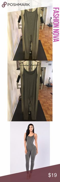 Nova Season Jumpsuit Nova Season Jumpsuit. Size: XL. Color: Charcoal. Spaghetti straps. Jersey material. It is somewhat stretchy but it's true to size. Material: 95% Cotton and 5% Spandex. Fashion Nova Pants Jumpsuits & Rompers