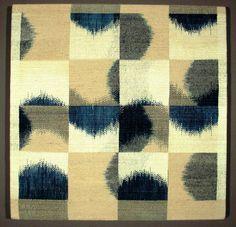 Wow. Ethel Stein | #5 | damask woven silk ikat | Croton-on-Hudson, New York, U.S.A. | c. 1980-'89