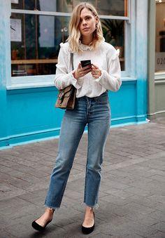 look street style calca desfiada