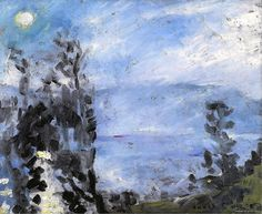 Lovis Corinth – Walchensee, Moon in June, 1920